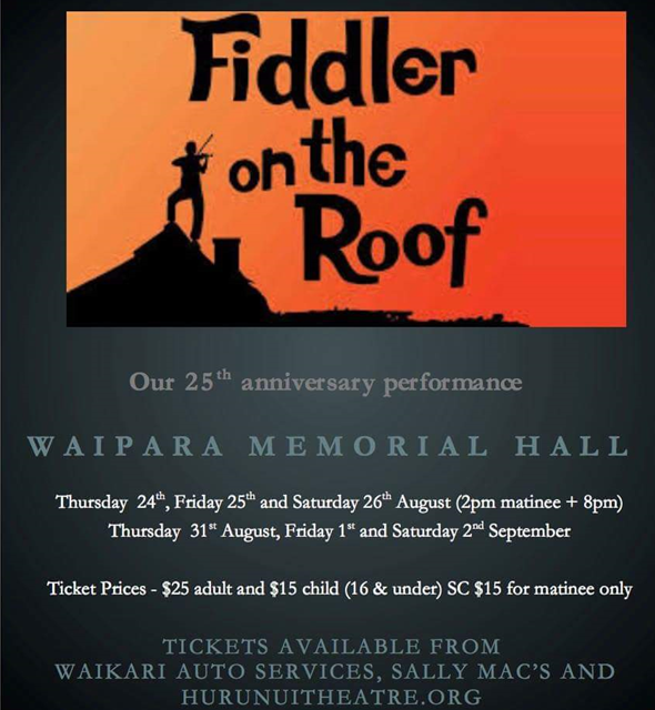 Hurunui Theatre Group presents Fiddler on the Roof