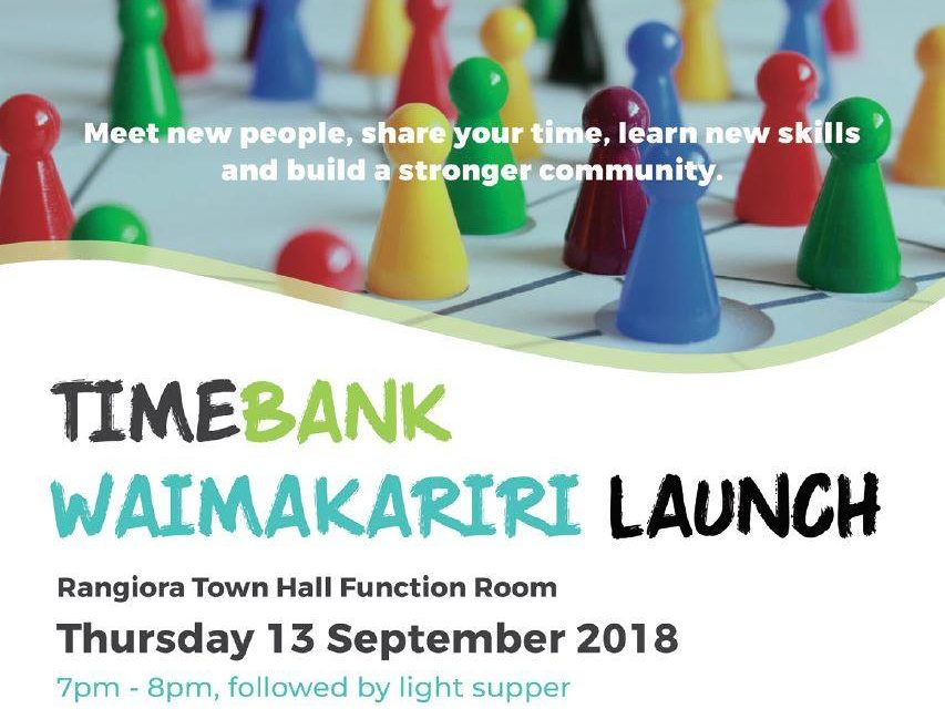 Timebank Waimakariri to launch